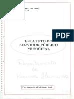 Lei 05 de 1970 Estatuto Do Servidor