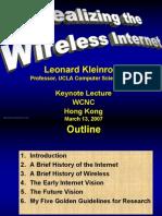 L Kleinrock WCNC07 Keynote