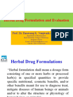 Herbal Drug Formulation and Evaluation