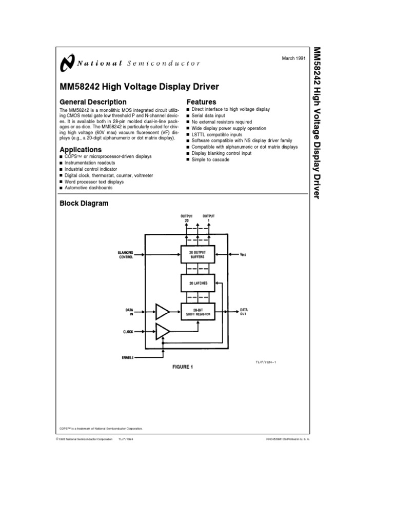 Mm58242v Electrical Engineering Electronic Schematic Diagram Of Dashboard Digital Voltmeter