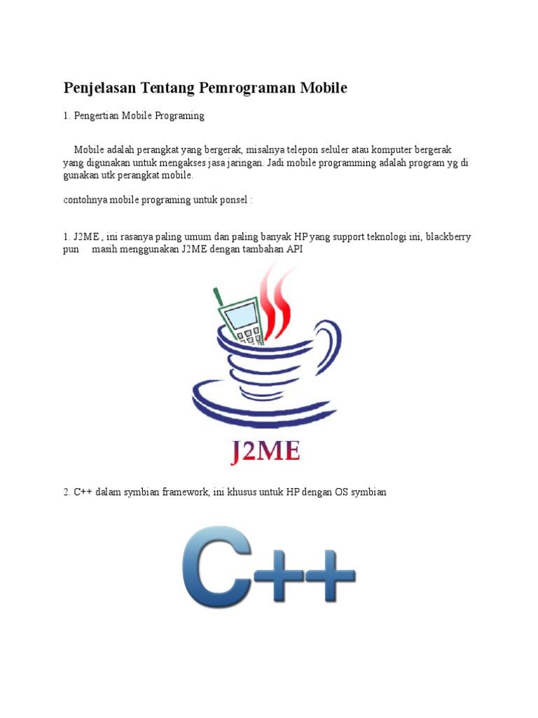 Penjelasan Tentang Pemrograman Mobile Software Pemograman Handphone 1532041675v1