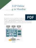 SAP ABAP Online Training in Mumbai