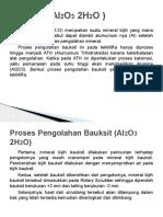 Bauksit ( Al2O3 2H2O )