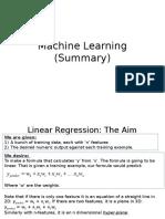 Machine Learning(Summary)