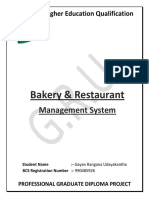 Bakery and Restaurant Management System