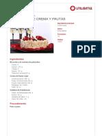 Charlotte de Crema y Frutas