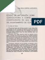 1969.- Garcia Laguardia, J. Estado de opinión sobre convocatoria a cortes constituyentes en 1810. Actitud del ayuntamiento de Guatemala.