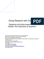 Designing and Doing Research With Children - The Importance of Questions