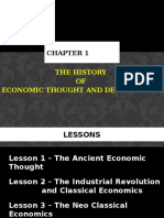 Chapter 1 - The History of Economic Thought and Development