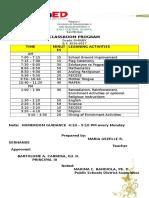 Classroom Program2016
