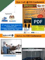 Byte Craft Sdn Bhd at Persidangan CIO Sektor Awam Malaysia CIO Public Sector Conference 2010