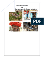 Study On Specific Market Research Tools And Techniques In Rural Markets