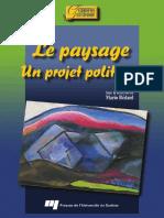 Mario Bedard, Collectif-Le Paysage _ Un Projet Politique (2009)