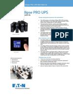 EATON Ellipse Pro UPS Datasheet Rev a LO