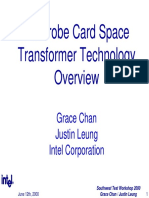 C4 Probe Card Space Transformer Technology