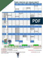 Calendário Escolar Ano Letivo 2016-2017 Colorido
