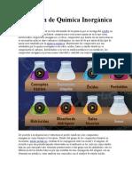 Quimica Inorganica e Importancia