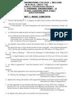 2013-'14 TE-II Schedule, Question Bank & Bit Bank