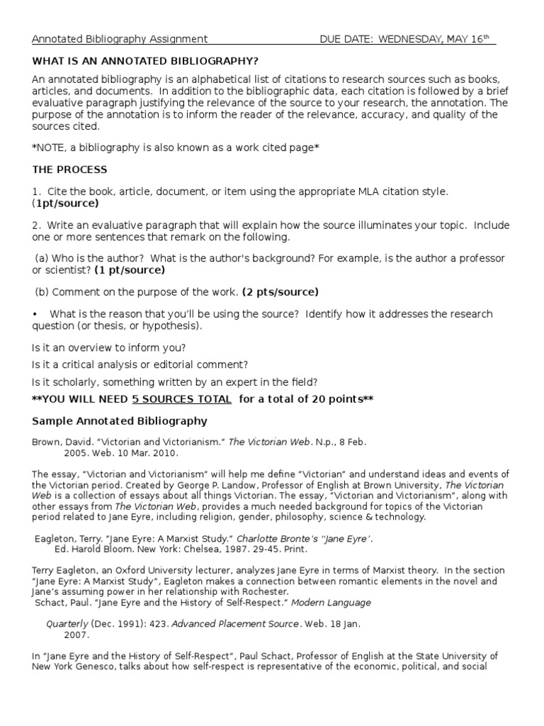 write annotated bibliography essay ideas for annotated bibliography
