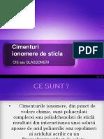 cimenturi ionomere de sticla