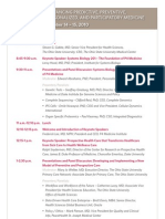 2010 Personalized Health Care National Conference Agenda