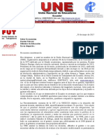 Carta a Ministro Fander Falconí