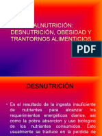 Malnutricion Anorexia, Obesidad Clase Dietot
