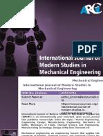 International Journal of Modern Studies in Mechanical Engineering -ARC Journals