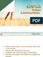 Chapter 14 - Rural & Urban Communities