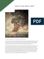 Krakatoa Eruption of 1883