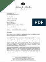 Charlotte Kuhn lawyer's letter