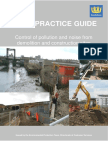 GOOD PRACTICE GUIDE - Control of Pollution and Noise From Demoition and Construction Sites