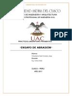 Informe de laboratorio de abrasión Completo