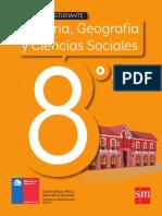 Texto de Historia, Geografía y Ciencias Sociales 8° Básico SM 2016-17