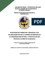 Tesis revisada estrategia de formación y desarrollo de valores bioéticos en la carrera de medicina de la umrpsfxch carranza montalvo álvaro miguel maestría versión x