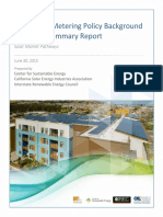 Virtual Net Metering Policy Background Tariff Summary Report