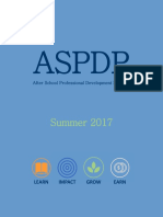 ASPDP Summer 2017 Course Catalog