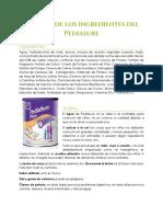 Análisis de Los Ingredientes Del Pediasure