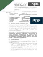 Sílabo de Contaminación Ambiental e Indicadores de Sostenibilidad