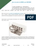 Circuito de amplificador de áudio de 600W com 2SC5200 2SA1943 e PCB.docx