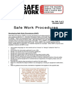Safe Work Procedure Bulletin