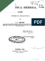 Gramatica Hebrea de J J Braun