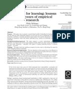 hallinger- leadership for learning