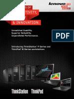 Lenovo ThinkStation Product Brochure