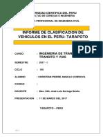 CLASIFICACIÓN DE VEHÍCULOS- TRANSPORTE