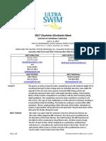 2017 Charlotte Ultraswim Info 2