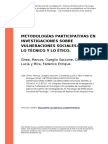 Ghea, Marcos, Gueglio Saccone, Consta (..) (2016). Metodologias Participativas en Investigaciones Sobre Vulneraciones Sociales Entre Lo t (..)