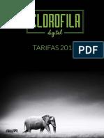 Tarifas Clorofila Digital 2016