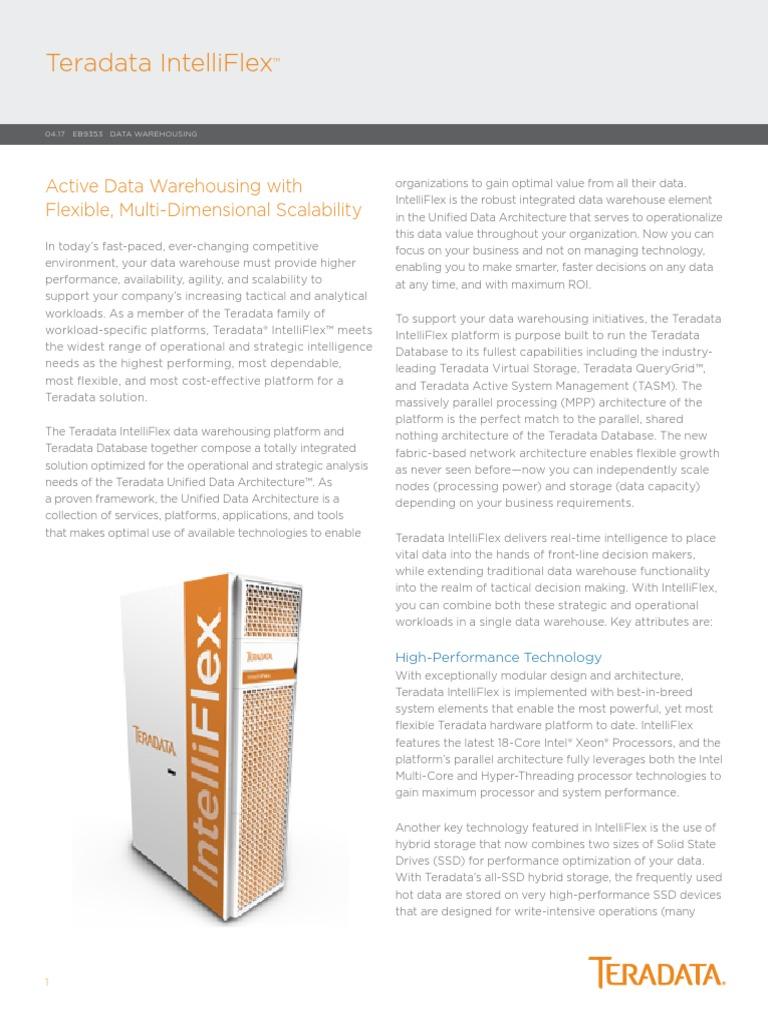 Teradata_Intelliflex | Scalability | Solid State Drive