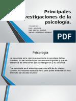 Principales Investigaciones de La Psicología
